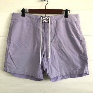 J Crew Mens Lilac Purple Oxford Cloth Board Shorts